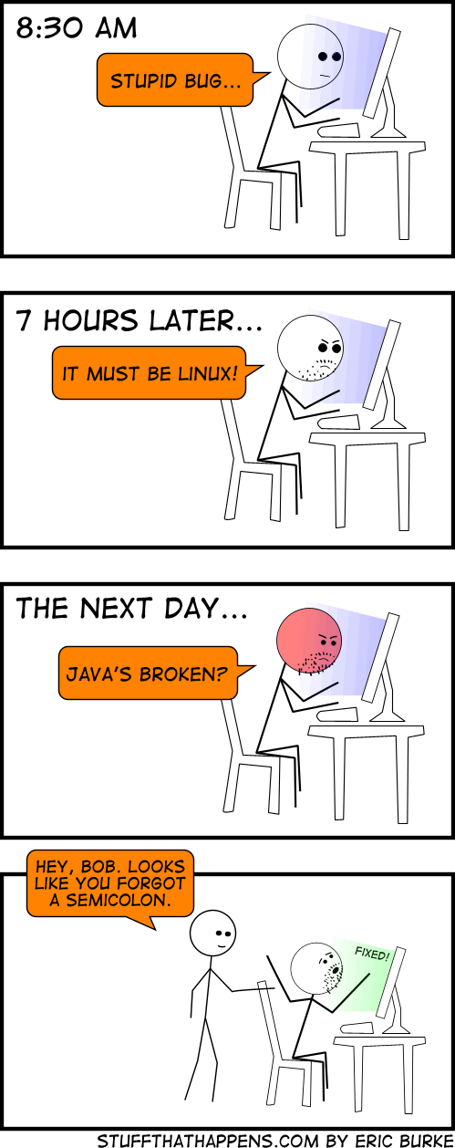 Another day in the life of a programmer…